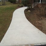 Flared concrete walkway
